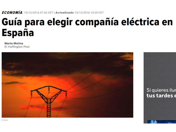 HUFFPOST – Guía para elegir compañía eléctrica en España - Ingebau